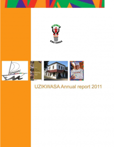 UZIKWASA Annual report 2011