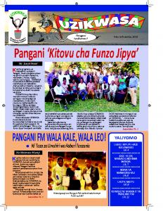 UZIKWASA Newsletter – November 2019